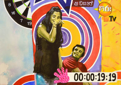 It's a game show in Sri Lanka in this original wall art