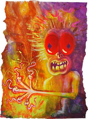 Pop wall art colors and retro art